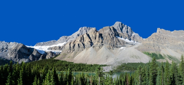 Crowfoot Mountain and Glacier, Banff National Park in Alberta, Canada Car Rental