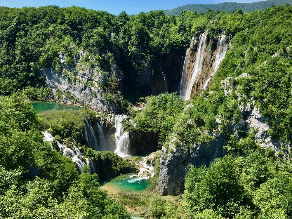 Plitvice Waterfalls in Krka National Park, Croatia