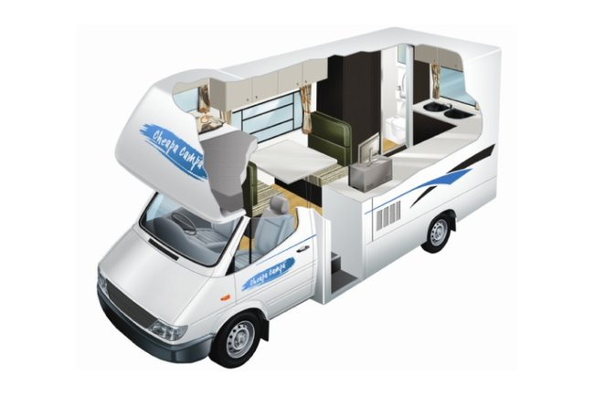 Cheapa Campa 4 Berth Motorhome, New Zealand