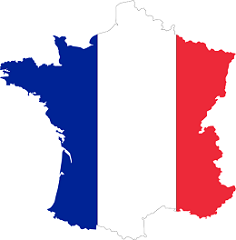 France Flag and Country map