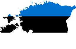 Estonia Flag with Country outline