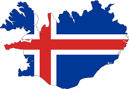 Iceland Flag and Country Map