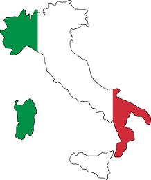 Italy Flag and country map
