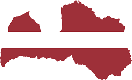 Latvia Flag and country map