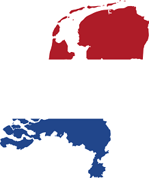 Netherlands Flag and country map