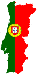Portugal Flag and country map