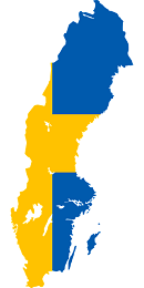 Sweden Flag and country map