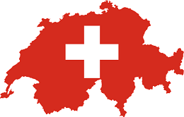 Switzerland Flag and country map