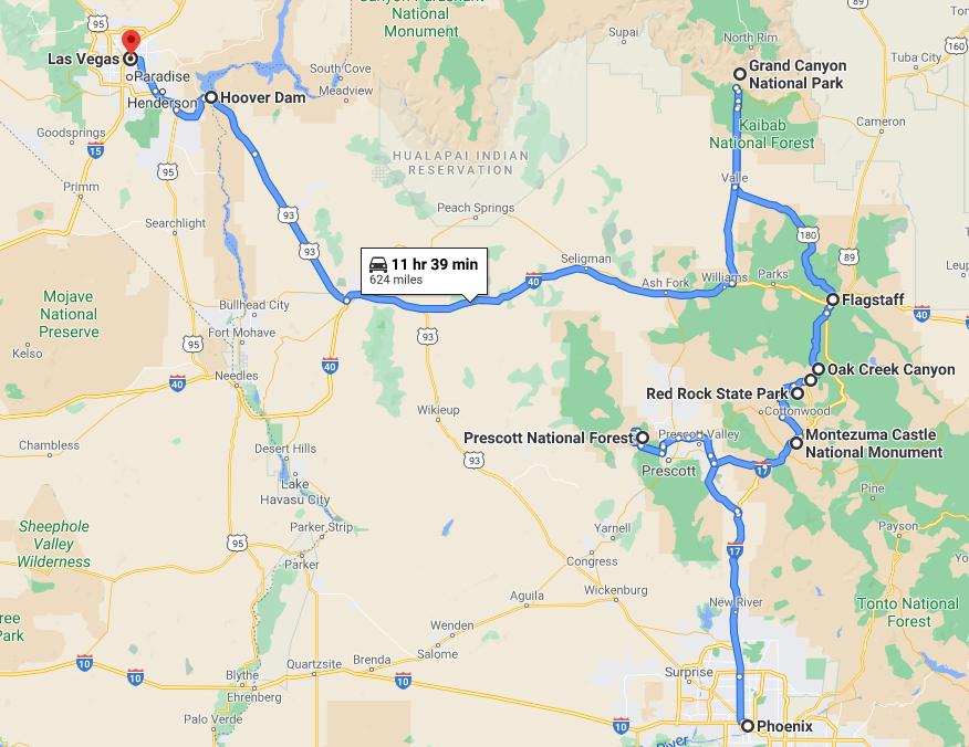 Phoenix to Las Vegas One Way RV Rental Road Trip