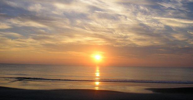 Sunrise at Daytona Beach, Miami Airport Motorhome Rental, Florida USA Campervan Hire and RV Rentals