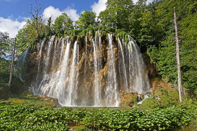 Croatia Motorhome Rental and Campervan Hire: Waterfall in Plitvice Lakes National Park
