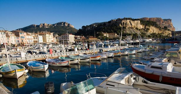 Port of Cassis on the Mediterranean Coast