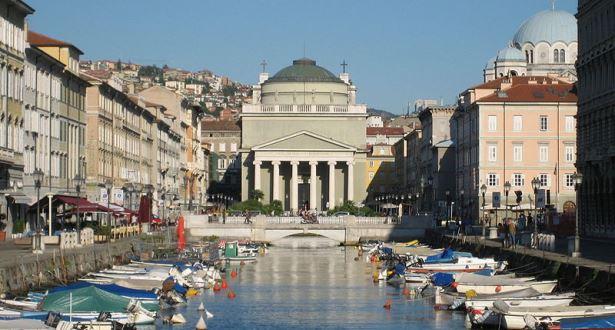 Sant Antonio Nuovo on the Grand Canal, Trieste Airport Motorhome Rental, Italy