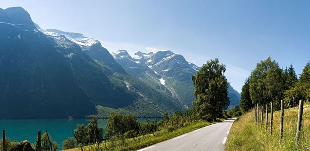 Lodalen Valley on the west coast of Norway,Oslo Motorhome Rental