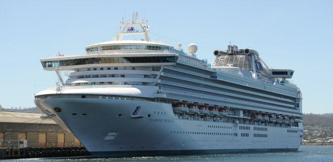 Diamond Princess in Hobart, Australia