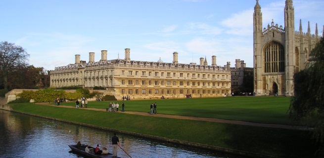 Clare College and Kings Chapel, Cambridge